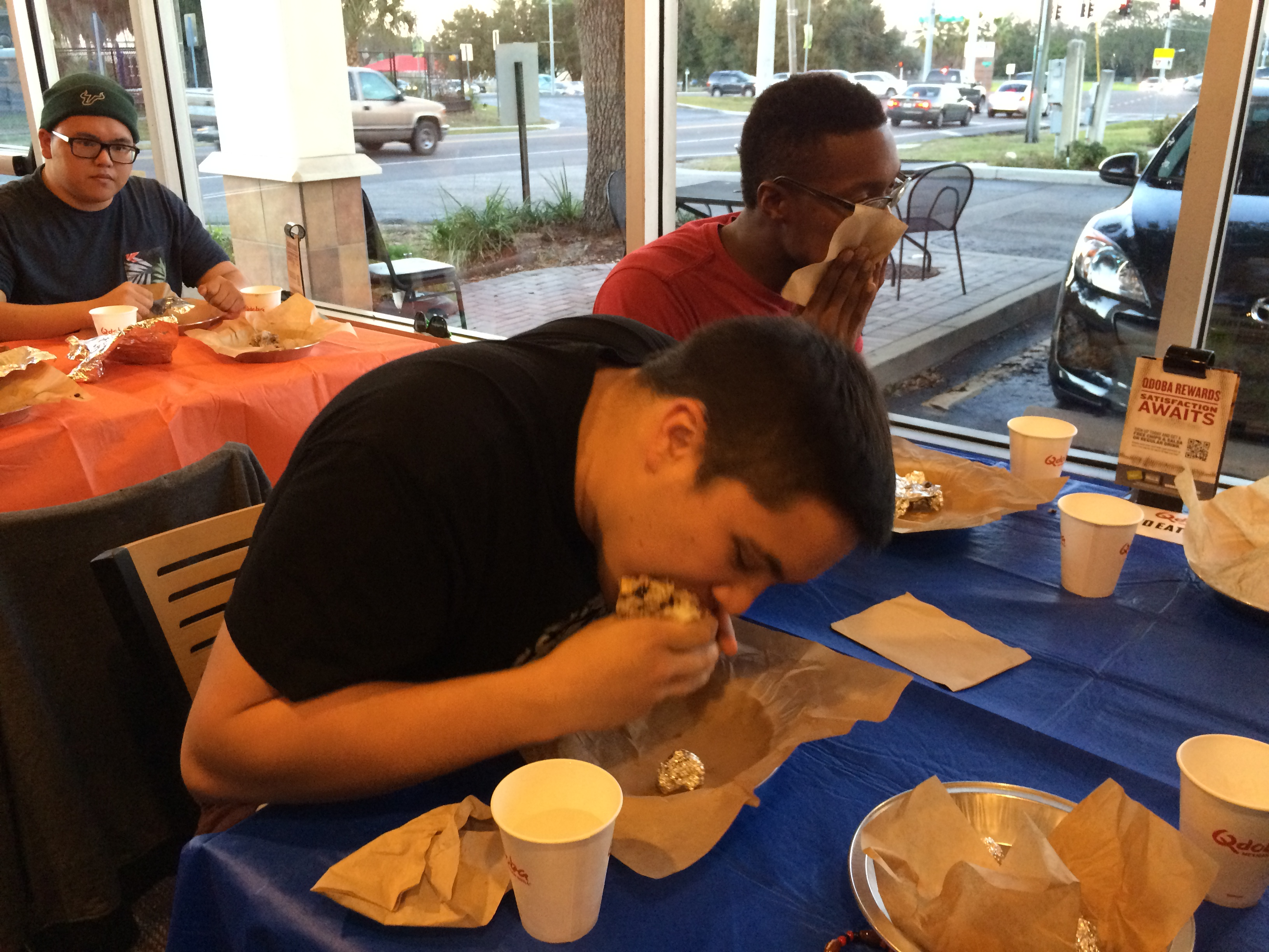 Six Teams Of Four Students Competed To Be Eligible To Win Free Burritos For  A Year*. Free Samples Of Qdobau0027s Menu Including Chips And Salsa And  Quesadillas ...